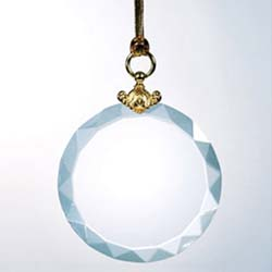 Crystal Deluxe Round Ornament