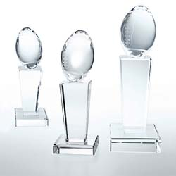 Crystal Football Trophy - UltimateCrystalAwards.com