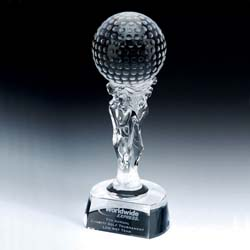 Crystal Goddess Golf Trophy - UltimateCrystalAwards.com