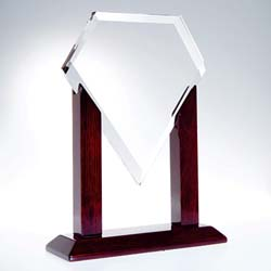 Crystal Heroic Diamond Award - UltimateCrystalAwards.com