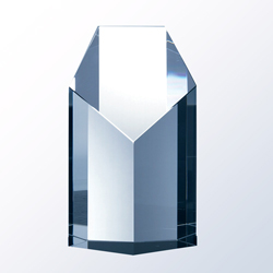 Crystal Pentagon Tower Award - UltimateCrystalAwards.com