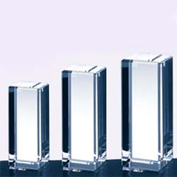 Crystal Rectangular Column Award - UltimateCrystalAwards.com