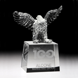 Crystal Rising Eagle Award | Eagle Trophy | Eagle Award - UltimateCrystalAwards.com