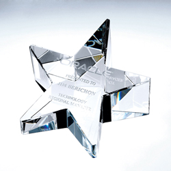 Crystal Slant Star Paperweight | Personalized Corporate Gifts - UltimateCrystalawards.com
