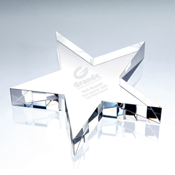 Crystal Star Paperweight | Personalized Corporate Gifts - UltimateCrystalAwards.com