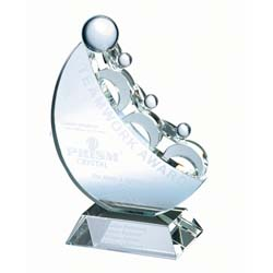 Crystal Teamwork Award - UltimateCrystalAwards.com