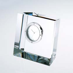 Expo Crystal Clock | Personalized Corporate Gifts - UltimateCrystalAwards.com