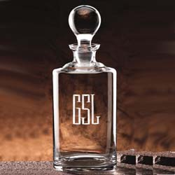 34 oz Glass Uptown Engravable Decanter | Personalized Gifts - UltimateCrystalAwards.com