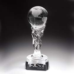 Globe Crystal Victory Award - UltimateCrystalAwards.com