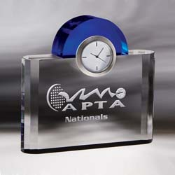 Institute Crystal Clock | Personalized Corporate Gifts - UltimateCrystalAwards.com