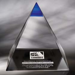 Majestic Crystal Pyramid Award - UltimateCrystalAwards.com
