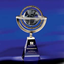 Omni Crystal Globe Award - UltimateCrystalAwards.com