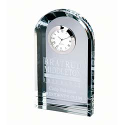 Royal Crystal Executive Clock | Personalized Corporate Gifts - UltimateCrystalAwards.com