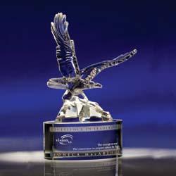 Soaring Crystal Eagle Award Eagle Trophy