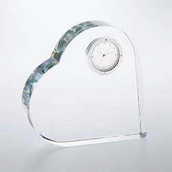 Timeless Heart Keepsake Clock | Personalized Gifts - UltimateCrystalAwards.com