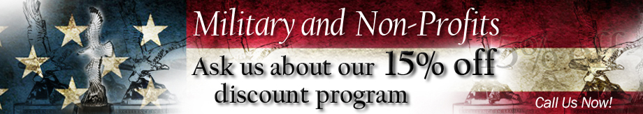 Military and Non Profit Awards Discount