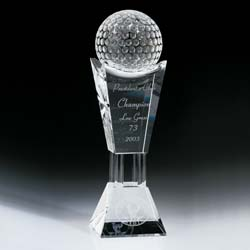 Best Crystal Golf Trophy, Golf Championship Trophy - Ultimate Crystal Awards