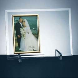 Beveled Flat Glass Vertical Photo Frame - UltimateCrystalAwards.com