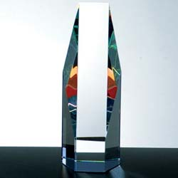 Color Crystal Octagon Award - UltimateCrystalAwards.com
