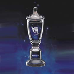 Glass Crescendo Championship Cup | Golf Trophy - UltimateCrystalAwards.com