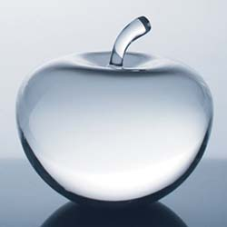 Crystal Apple Award | Crystal Apple Paperweight | Teacher Award | Personalized Crystal Gifts - UltimateCrystalAwards.com