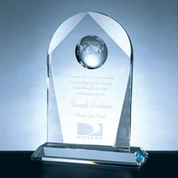 Crystal Arch Globe Award - UltimateCrystalAwards.com