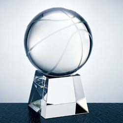Crystal Basketball Award - UltimateCrystalAwards.com