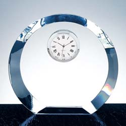 Crystal Beveled Executive Clock | Personalized Corporate Gifts - UltimateCrystalAwards.com