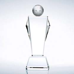 Crystal Champion Golf Trophy - UltimateCrystalAwards.com