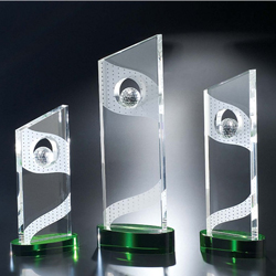 Crystal Golf Fairway Trophy - UltimateCrystalAwards.com