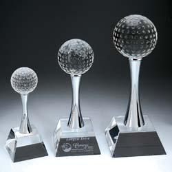 Crystal Golf Trophy, Championship Golf Trophy - UltimateCrystalAwards.com