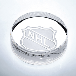 Crystal Hockey Puck - UltimateCrystalAwards.com