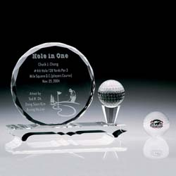 Crystal Hole in One Award - UltimateCrystalAwards.com