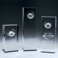 Crystal Hole in One Trophy - UltimateCrystalAwards.com
