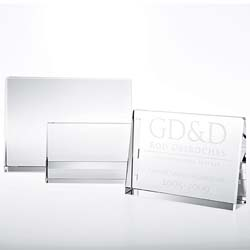 Crystal Horizontal Rectangle Plaque