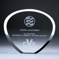 Crystal Shell Plaque - UltimateCrystalAwards.com