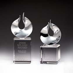 Crystal Solid Flame Award - UltimateCrystalAwards.com