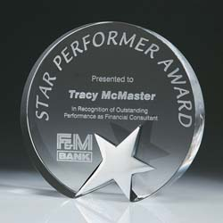 Crystal Top Star Award - UltimateCrystalAwards.com