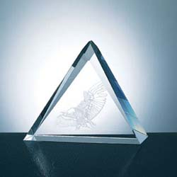Crystal Triangle Plaque