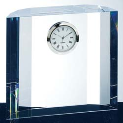Elegant Crystal Executive Clock | Personalized Corporate Gifts - UltimateCrystalAwards.com