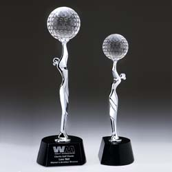 Elegant Golf Trophy - UltimateCrystalAwards.com