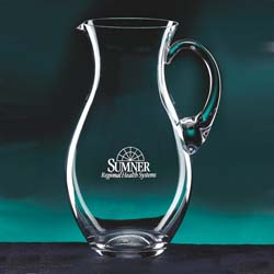 68 oz Julia Glass Personalized Pitcher - UltimateCrystalAwards.com