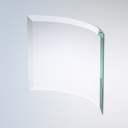 Jade Bent Glass Plaque | Glass Recognition Plaque - UltimateCrystalAwards.com