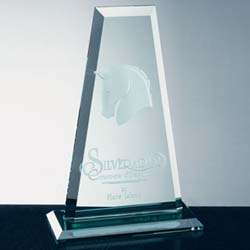Jade Glass Tower Award - UltimateCrystalAwards.com