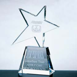 Meteor Crystal Star Award (Clear) - UltimateCrystalAwards.com