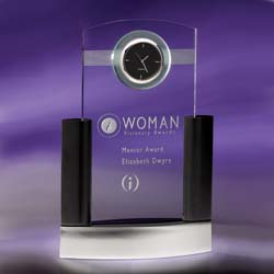 Neopolitian Executive Clock | Personalized Corporate Gifts - UltimateCrystalAwards.com