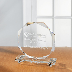Octo Crystal Plaque, Round Crystal Plaque - UltimateCrystalAwards.com