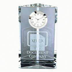 Pioneer Crystal Executive Clock | Personalized Corporate Gifts - UltimateCrystalAwards.com