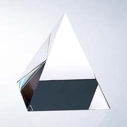 Pyramid Crystal Paperweight | Personalized Corporate Gifts - UltimateCrystalAwards.com