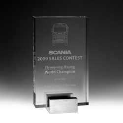Solid Crystal Plaque Award - UltimateCrystalAwards.com